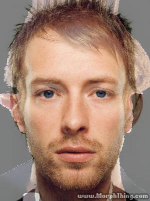 Faces of Martin and Yorke overlayed