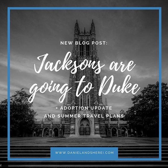 So...we got into Duke. Link in bio 🎉