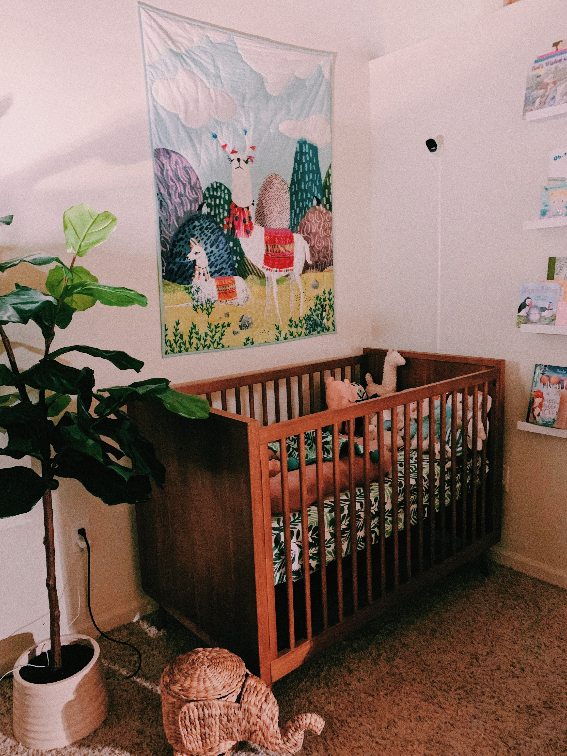 We fell in love with the Pottery Barn/ West Elm mash-up crib, which was a gift from my mom. It's ethically produced too!