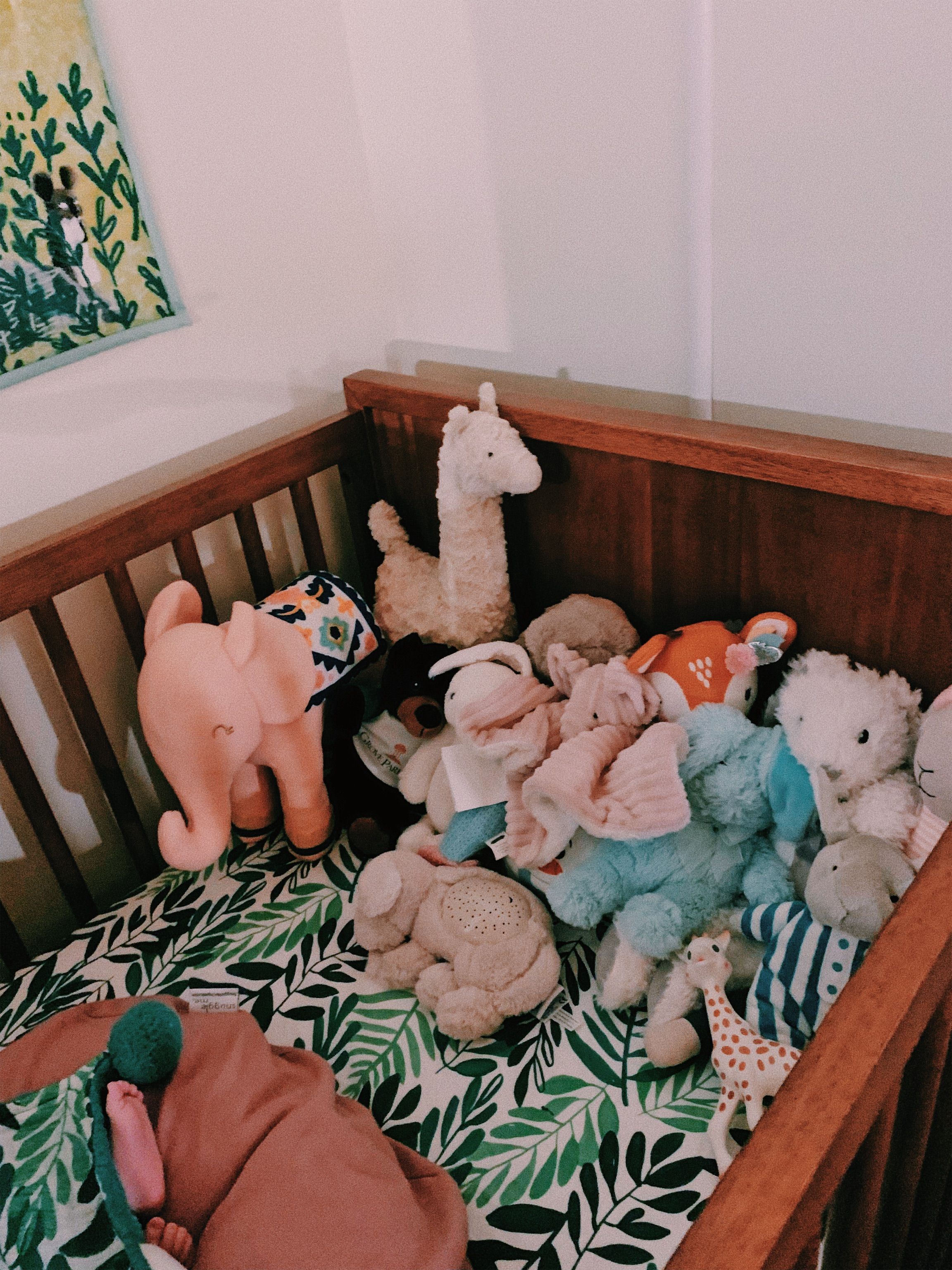 We also have so many cuddly buddies that will live on the daybed whenever she actually sleeps in the crib at night.