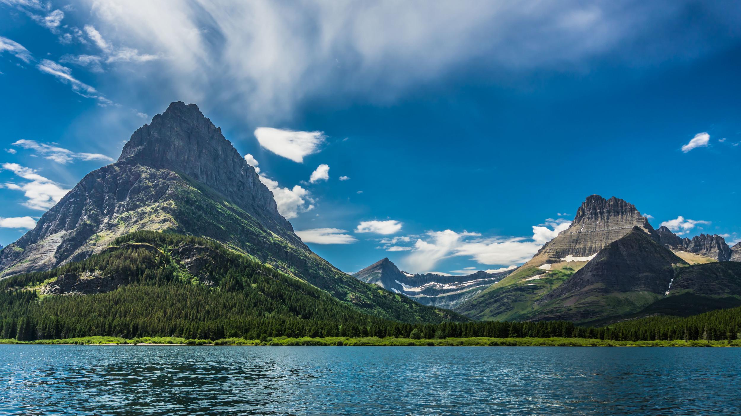 #lake #mountains #sky #glacier #nationalpark #montana #usa #glaciernps