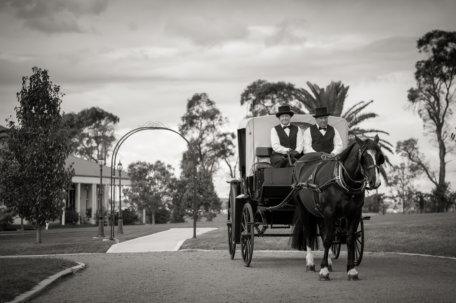 Arrive in style to Calvin Estate with Denese and Paul.  http://www.hvweddingcarriages.com.au/