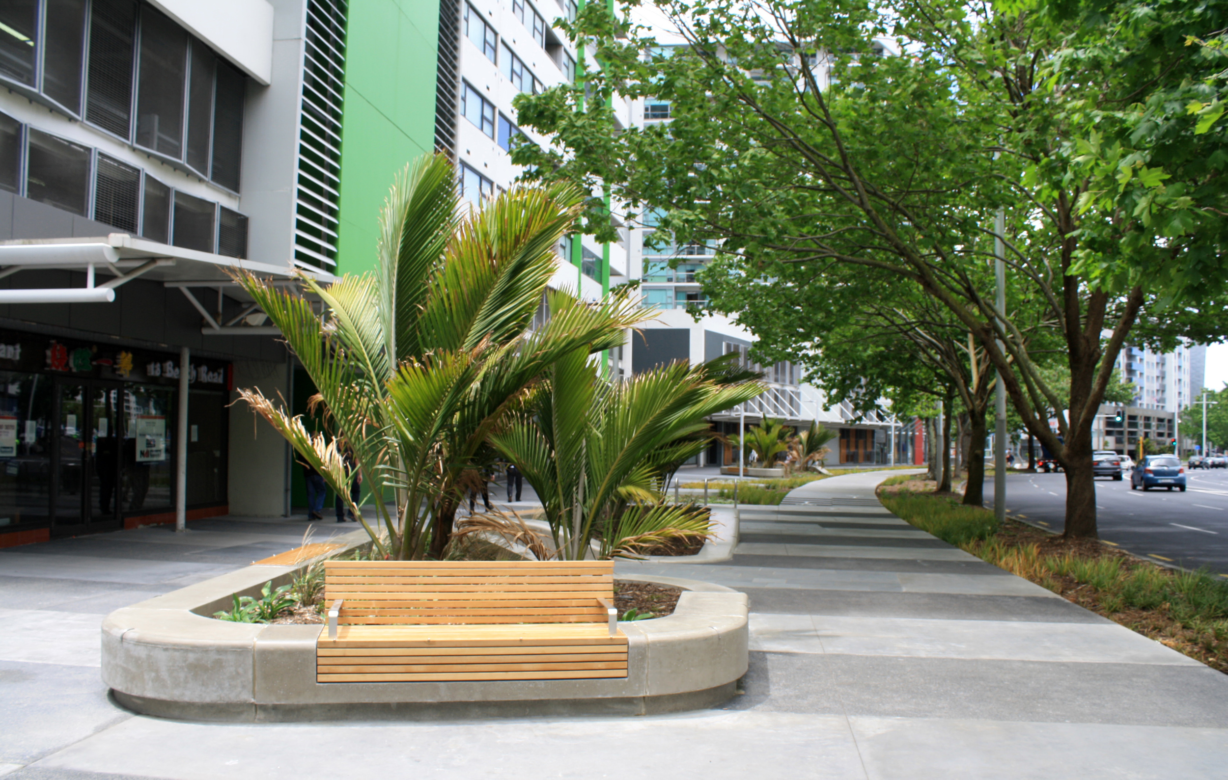 Beach Rd Cycleway, Auckland CBD. (Completed with Beca/Thresher Associates)