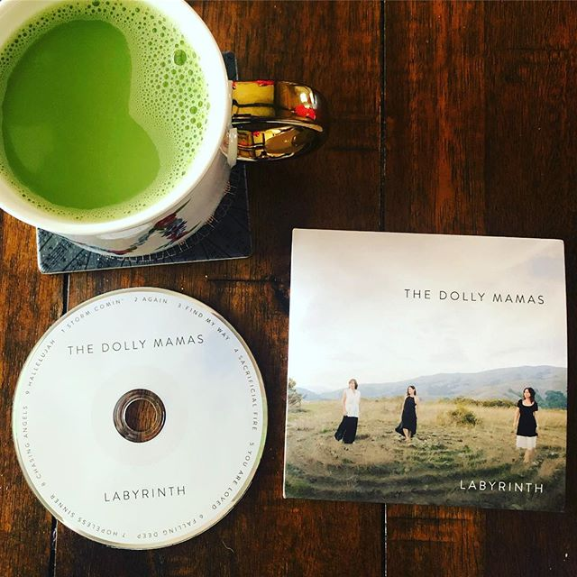 It's is great morning! We unboxed our CDs last night after our rehearsal and this morning I'm drinking my matcha latte and listening to our album! Feeling gratitude and joy for all the people who came together to help make this record! #songwriter #newalbum #goalsetting #creativityeveryday #love2sing @the.dolly.mamas