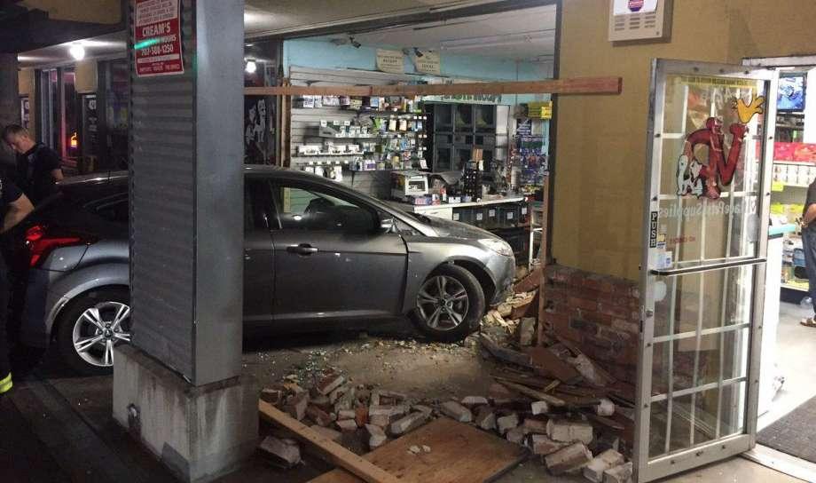 A man crashed a car into a pet store at a Santa Rosa strip mall, officials said.