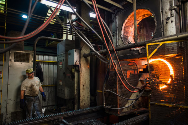 A forge welder at Columbiana Boiler in Columbiana, Ohio. A quarter of the company's job applicants fail drug tests, its chief executive said.