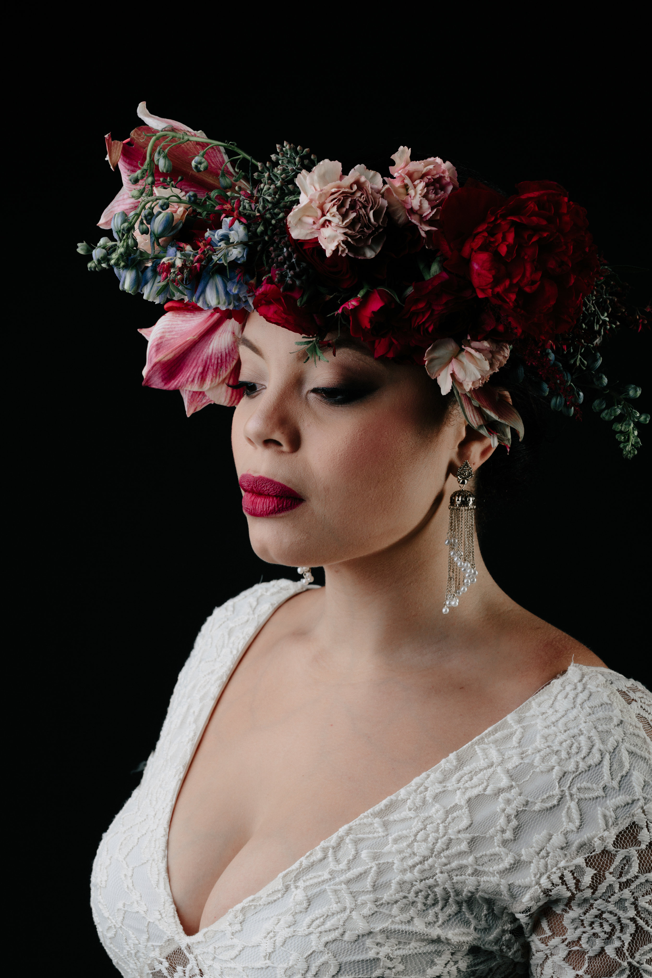 I dream of a world where peace is the only option. Where color is grey and hate is extinct.-Anastasia- - Photography: Michelle Scott | Dress: Free People | Earrings: Sparkling Sage | Floral: Victory Blooms | Hair & Makeup: Grace Armas