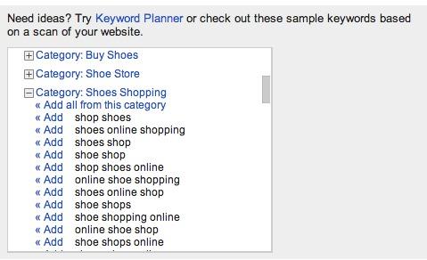 keyword sets