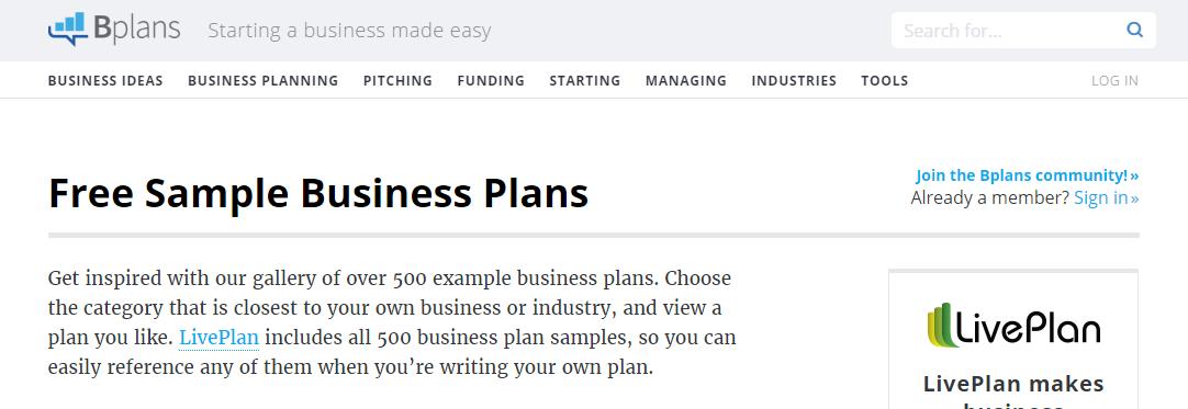http://www.bplans.com/sample_business_plans.php