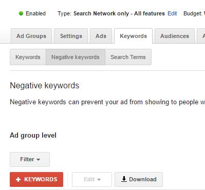 negative keywords - backlinkfy