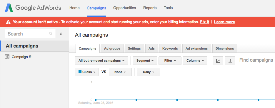 adwords activation