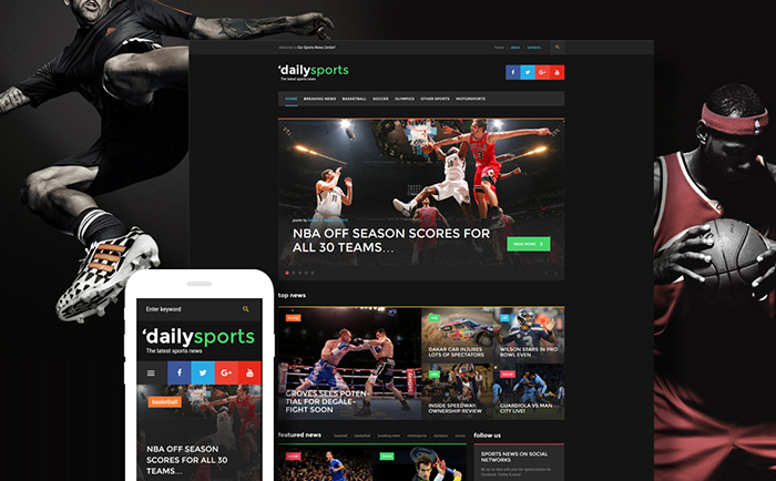dailysports - Wordpress magazine theme *Sports