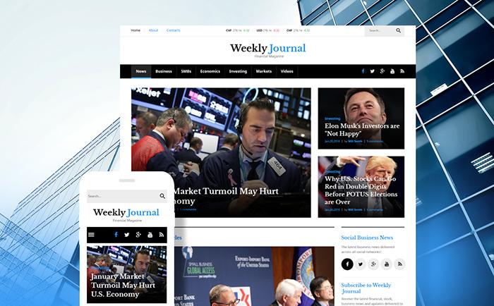 Weekly Journal - Wordpress Magazine Theme