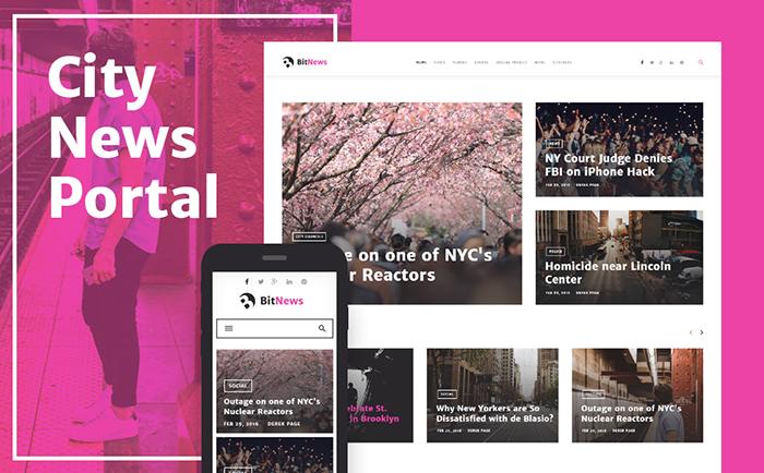 bitnews - Wordpress magazine theme