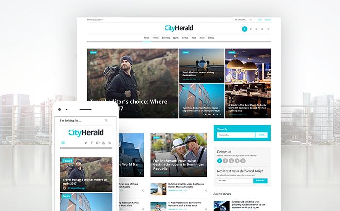 city herald - Wordpress Magazine theme