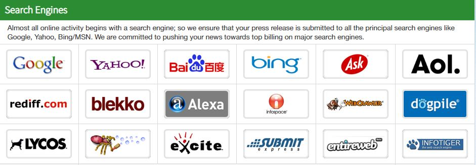 Over 50+ more search engines!