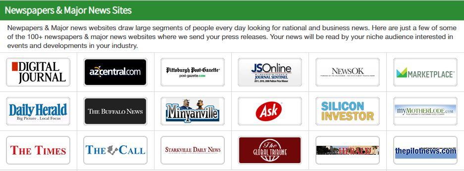 200+ more Newspapers and Major news sites!