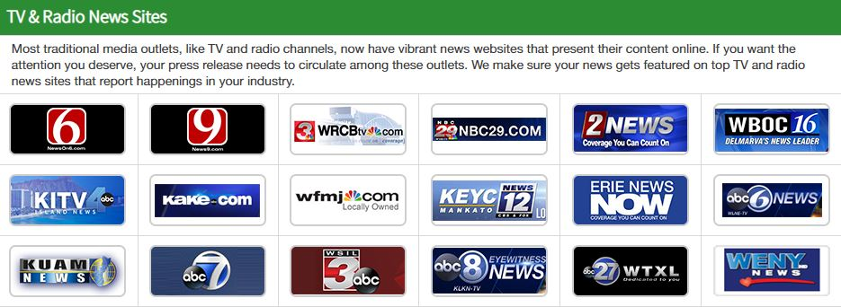 300+ More TV and radio news outlets!
