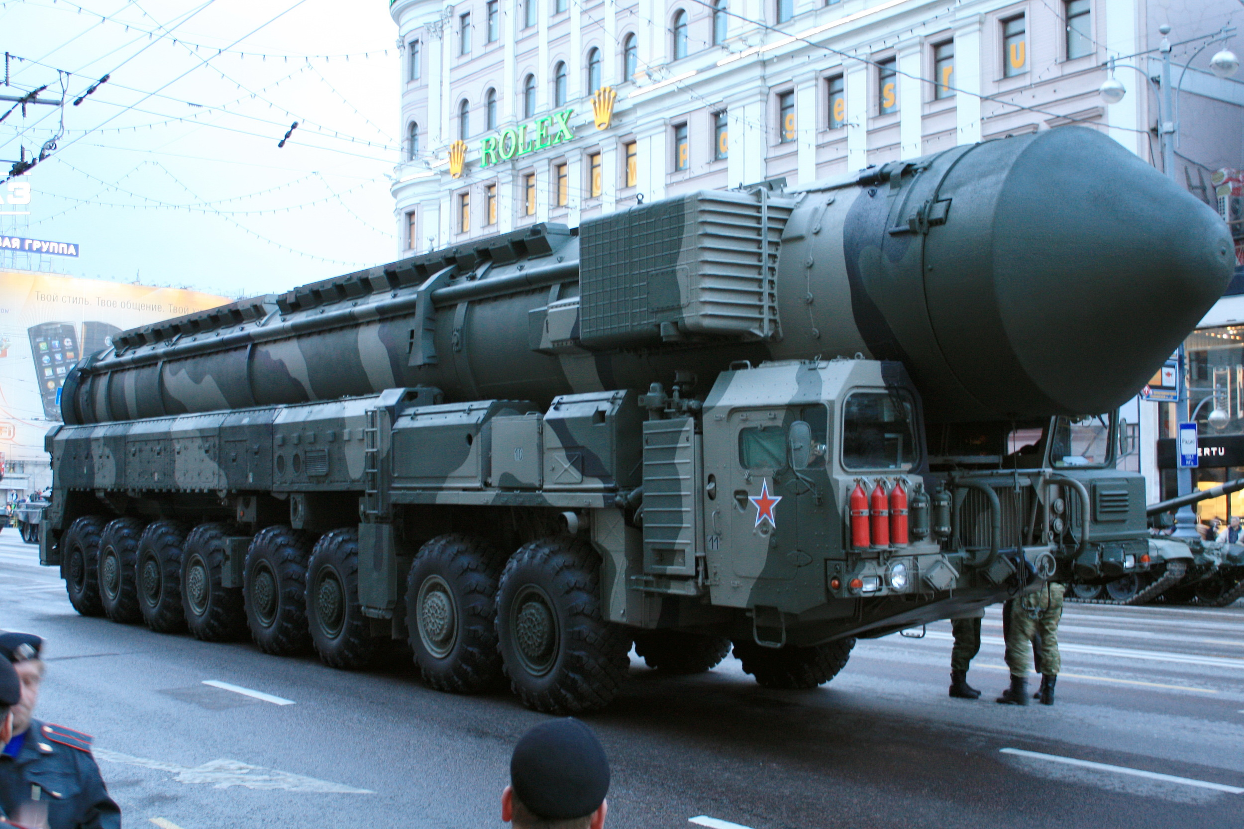 Russian Topol-M on Parade. Source: Wikipedia, creative commons.