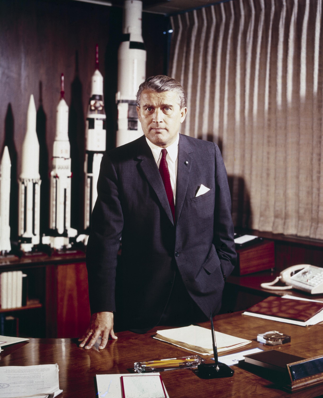 America's Favorite Nazi, Wernher von Braun. Image: NASA, Public Domain.