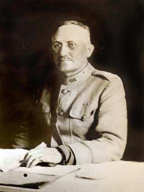 """The """"Hero of Panama,"""" Major General William Sibert, Commander, US Chemical Warfare Service 1918-1919."""