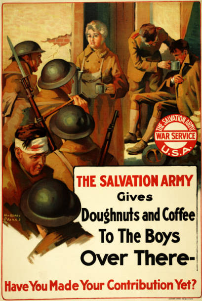 Coffee and doughnuts - a taste from home. (Source: Pritzker Military Museum and Library Collection)