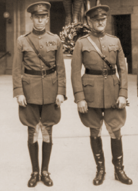 A young George C. Marshall and General Pershing, 1919 (Source: National Archives)