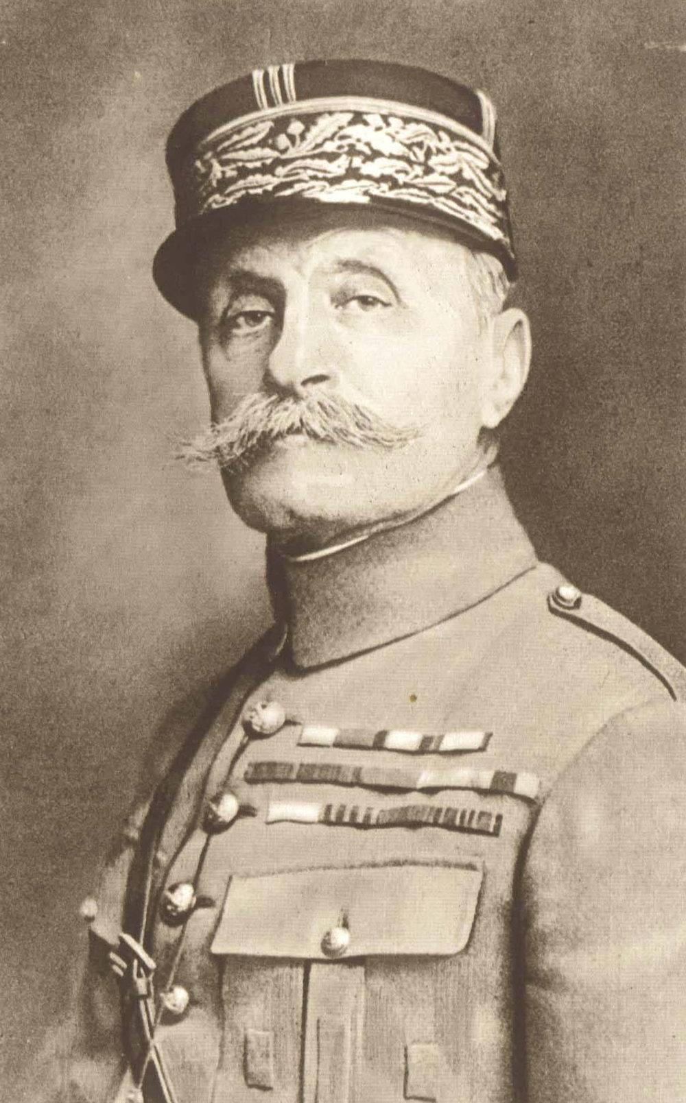Foch, who almost had his mustache and that smug look beaten off his face by General Pershing. (Source: Public Domain).