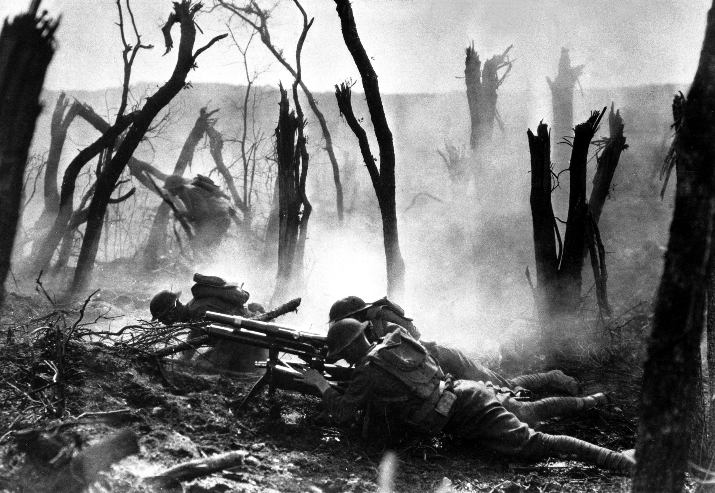 The Meuse-Argonne Offensive - The largest battle in American history: 47 days, 26,277 killed, 95,786 wounded, (30+ percent by CW).