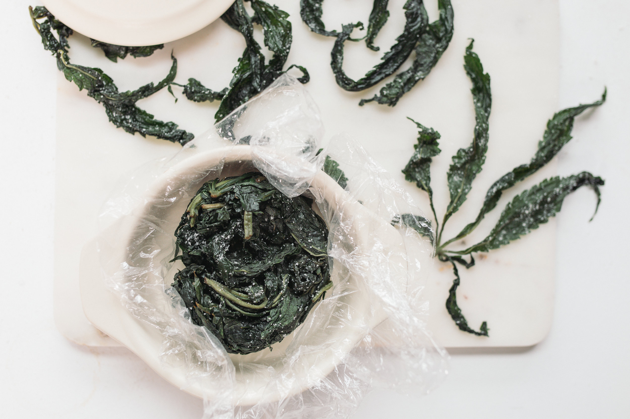 Salt-Cured Cannabis Leaves by Monica Lo, Sous Weed