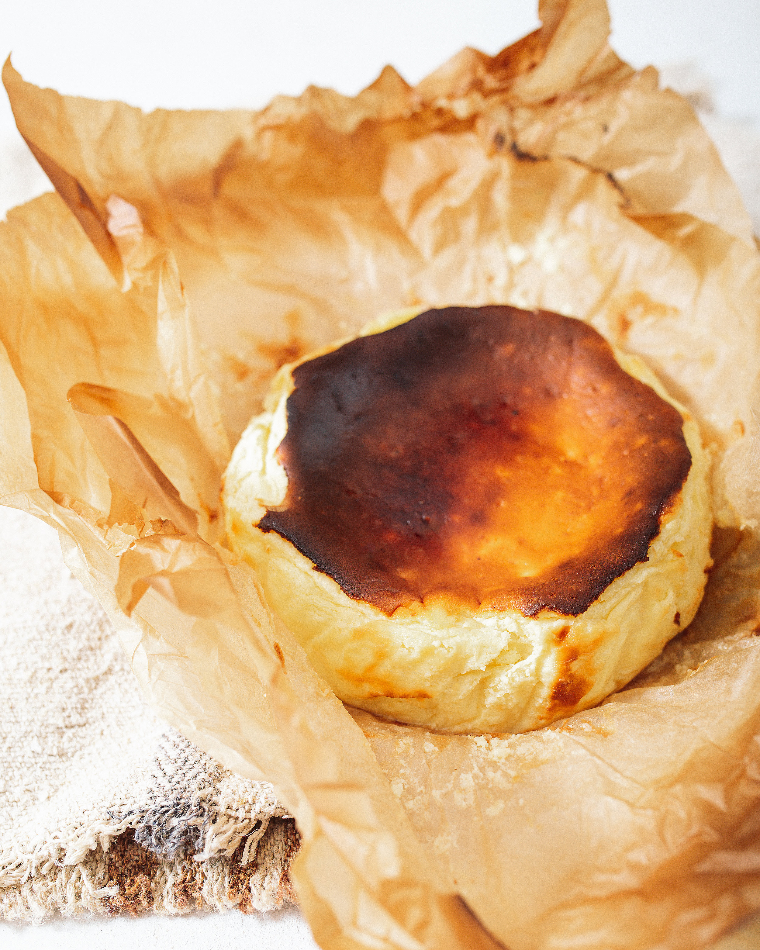 Basque Cheesecake Photography by Monica Lo