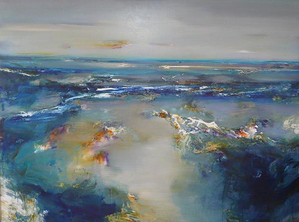 G. Dyer, Reflective Light - Ocean Beach, 180x244cm.JPG