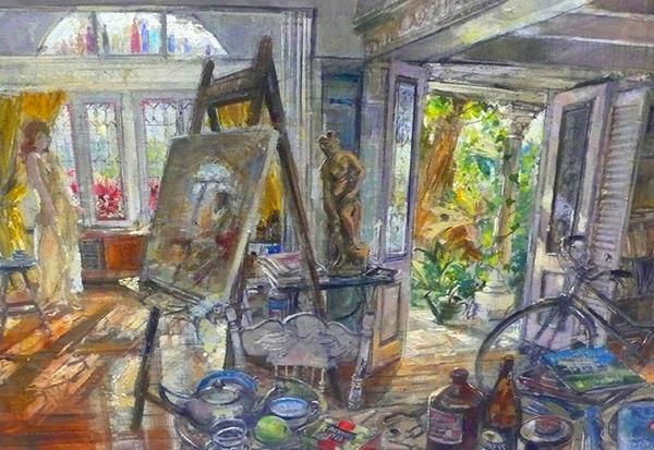 Robert Pengilley, Light Afternoon Avoca Beach Studio 92x61cm.JPG