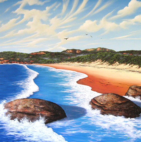 Andrew Kelaher - Set waves and salt spray 120cm x 120cm oil and synthetic polymer on canvas..JPG