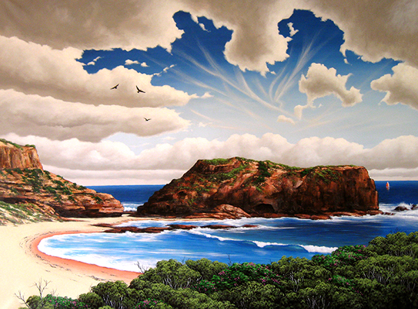 Andrew Kelaher - The adventure begins here 120cm x 160cm oil and synthetic polymer on canvas.JPG