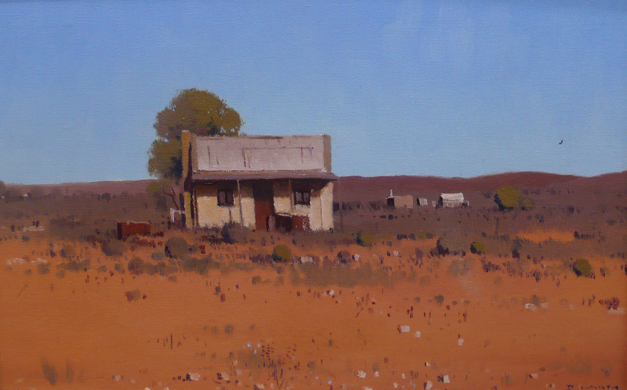 David Lake Shadow of the Past Silverton 41 x 26 cm $900.JPG