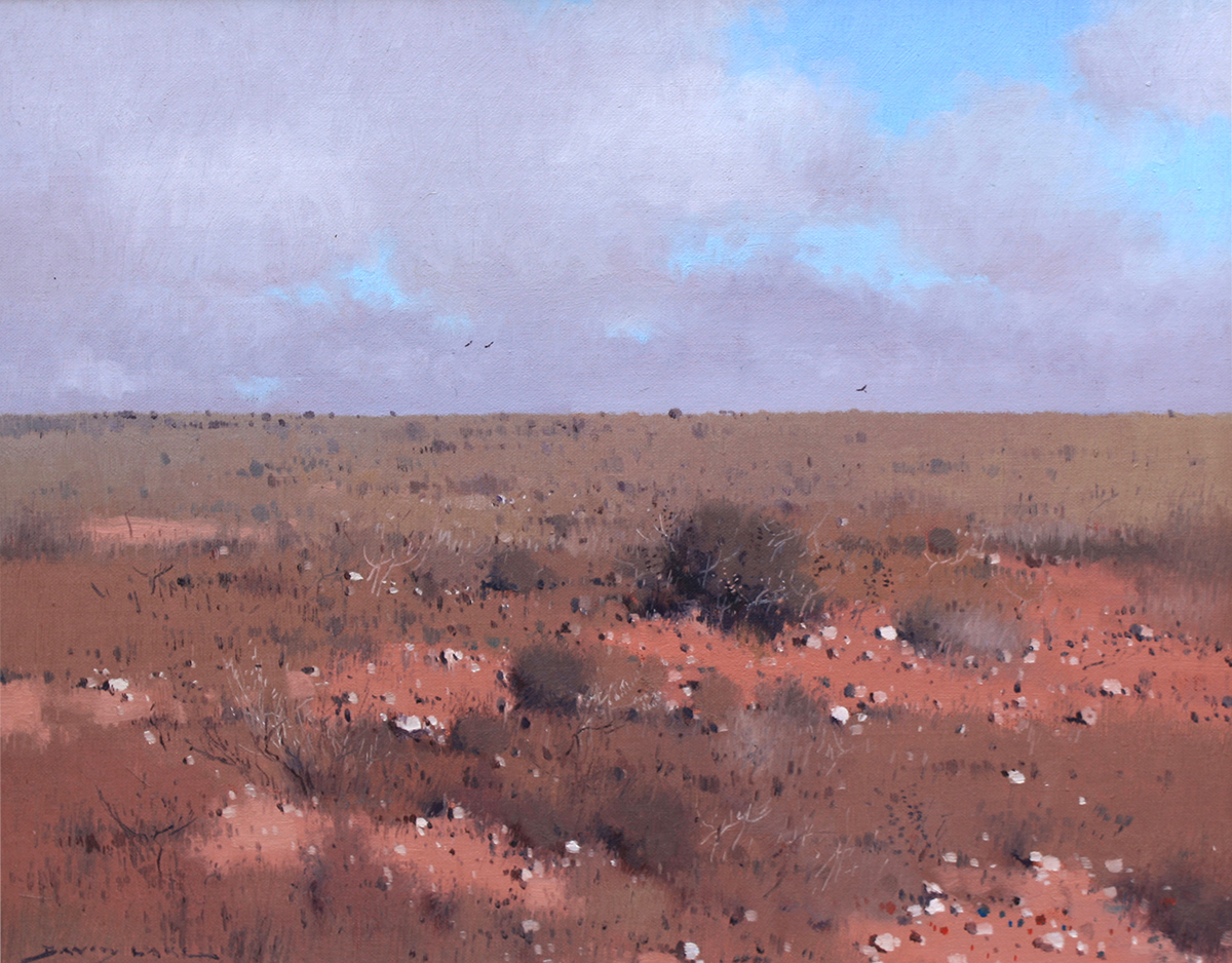 David Lake, Feet of Clay - White Cliffs, oil, 41 x 51cm.jpg