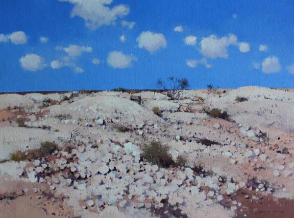 In the Midday Sun - White Cliffs 46 x 61cm $2000.jpg