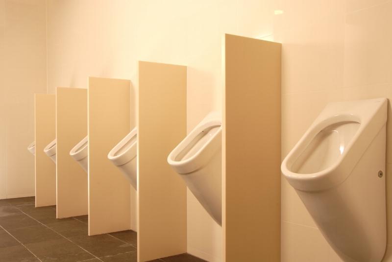 Corian Urinal Fins