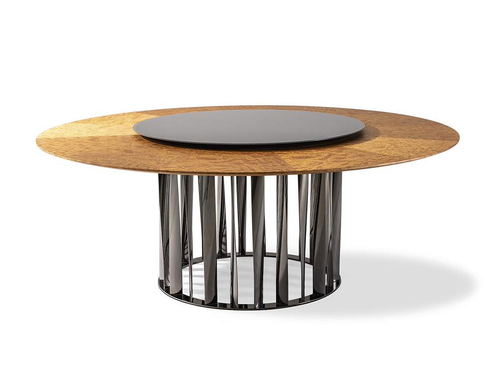 CASSINA – BOBOLI ROUND TABLE WITH LAZY SUSAN