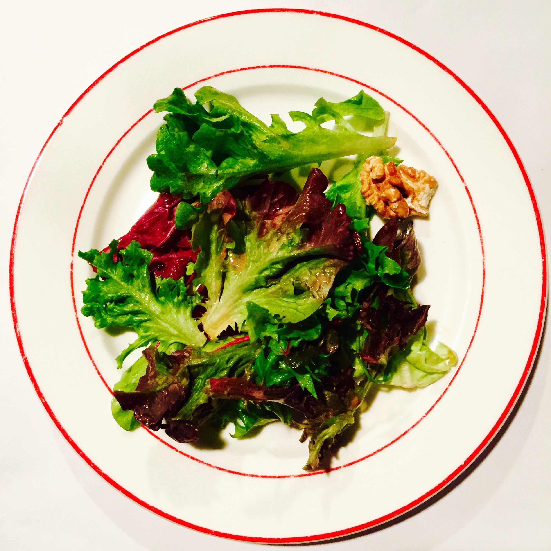 Green Walnut Salad drizzled in Mustard Dressing