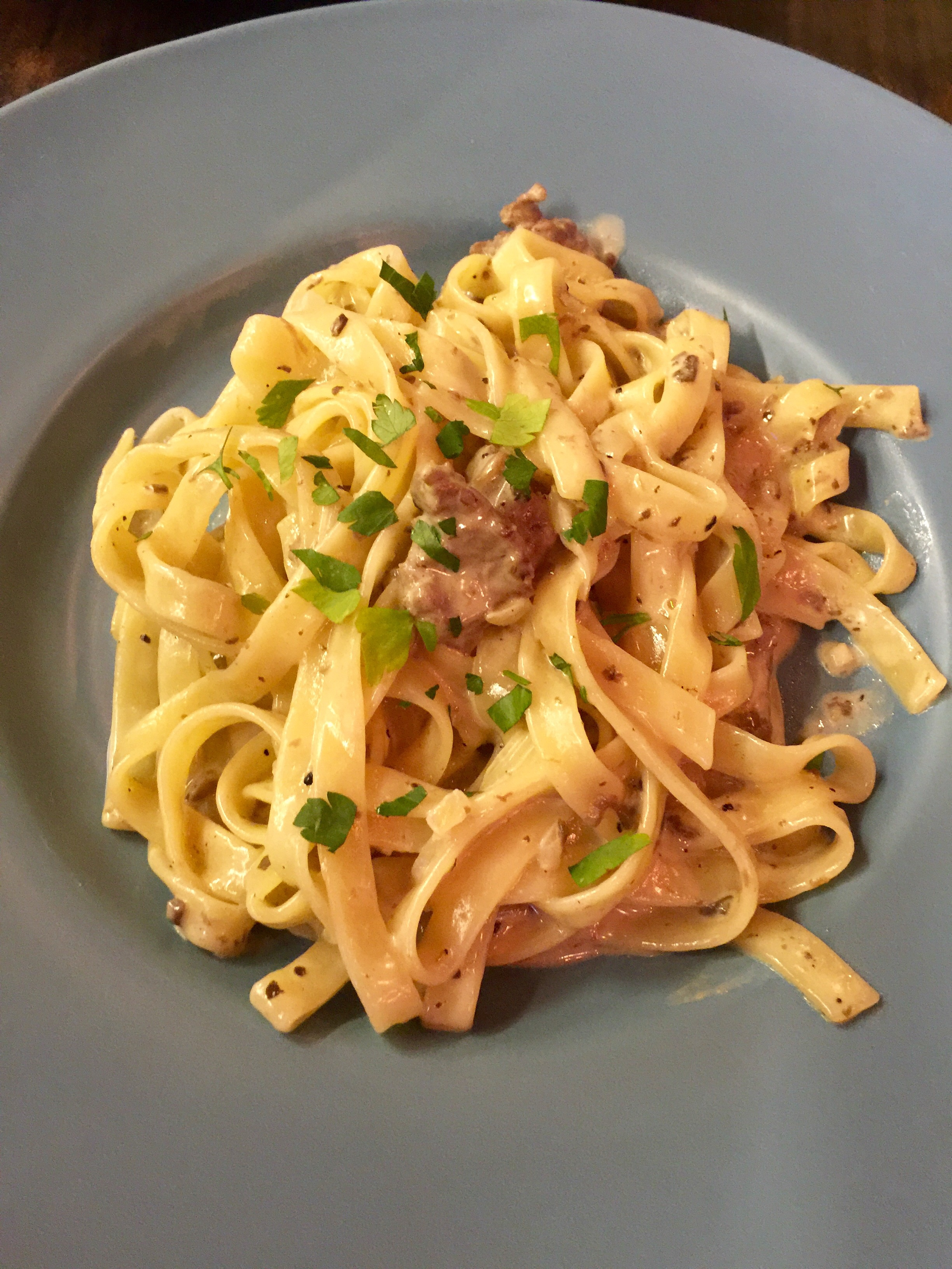 Manzo - Pasta cooked with beef and lightly drizzled in truffle oil