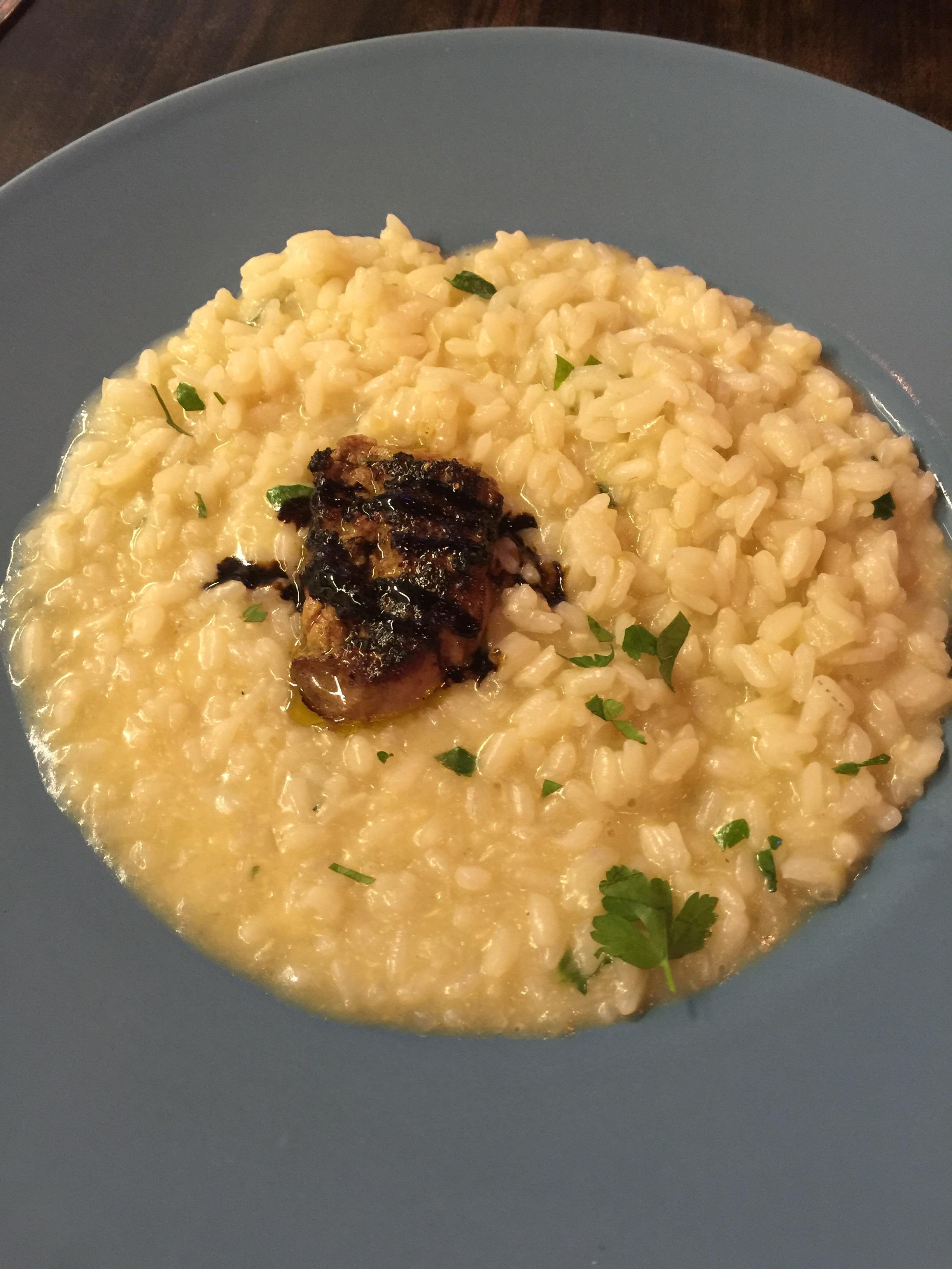Fegato d'orca - foie grais with risotto