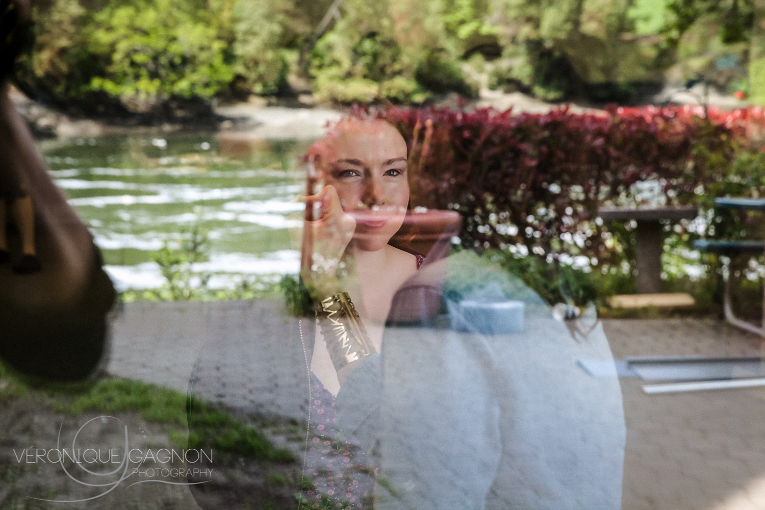 Bridesmaid getting their beauty on by the  Gorge Waterway .