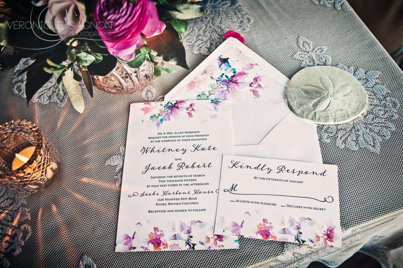 Watercolour wedding invitation by Tuktu Paper Co.