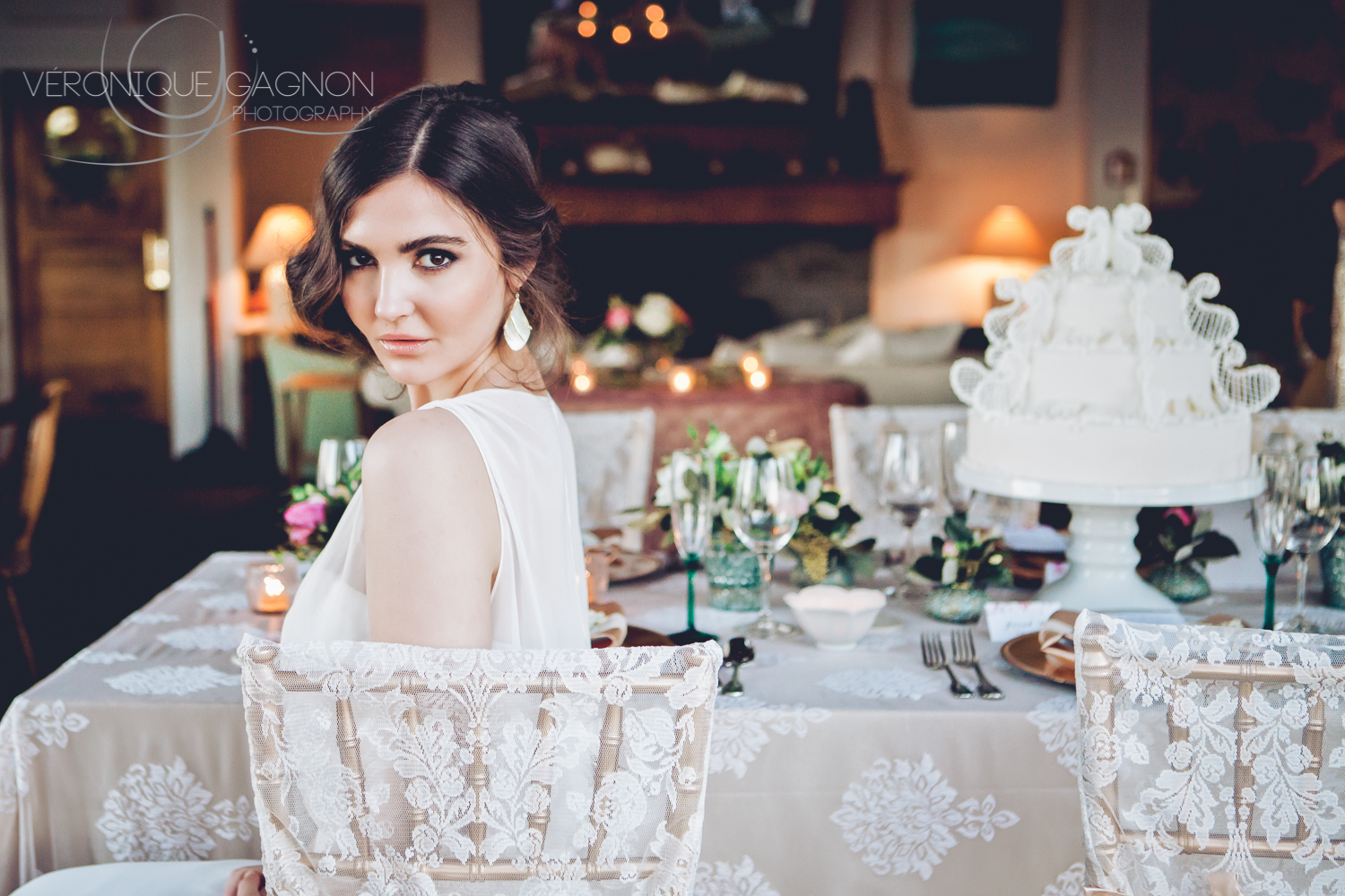 Natural vintage and romantic bridesmaid's look at the Sooke Harbour House