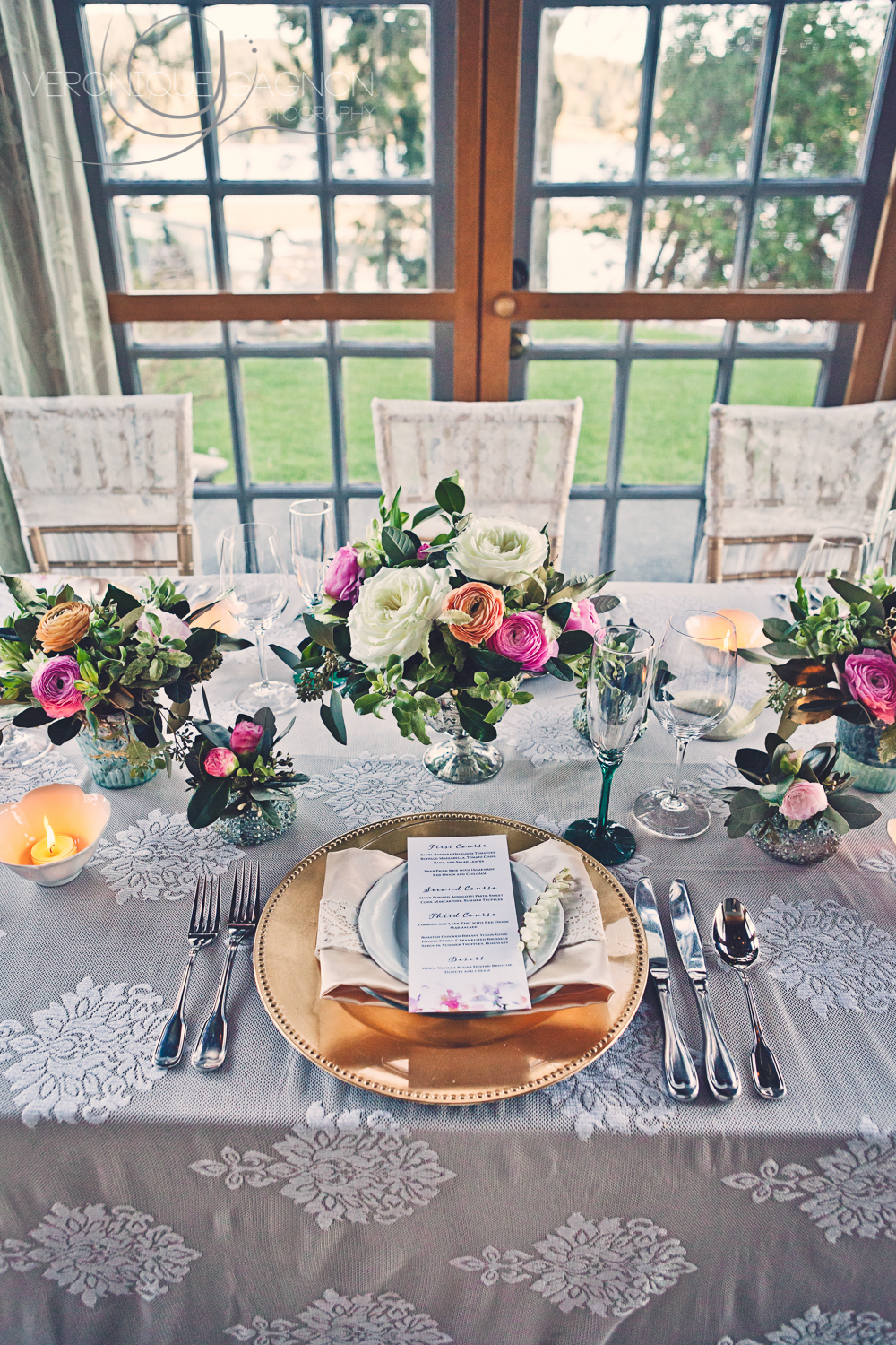 Lace, pastels and roses for a romantic vintage wedding at the Sooke Harbour House