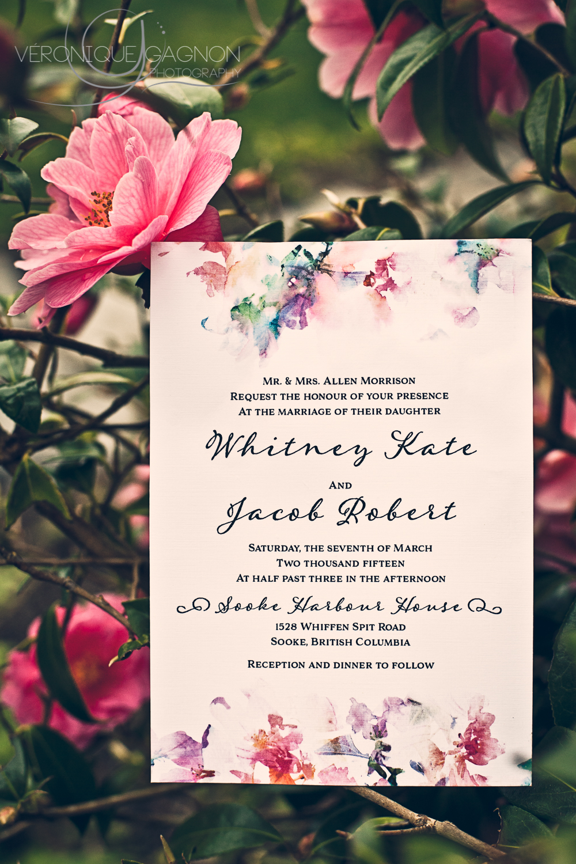 Wedding Invitation by Tuktu Paper Co.