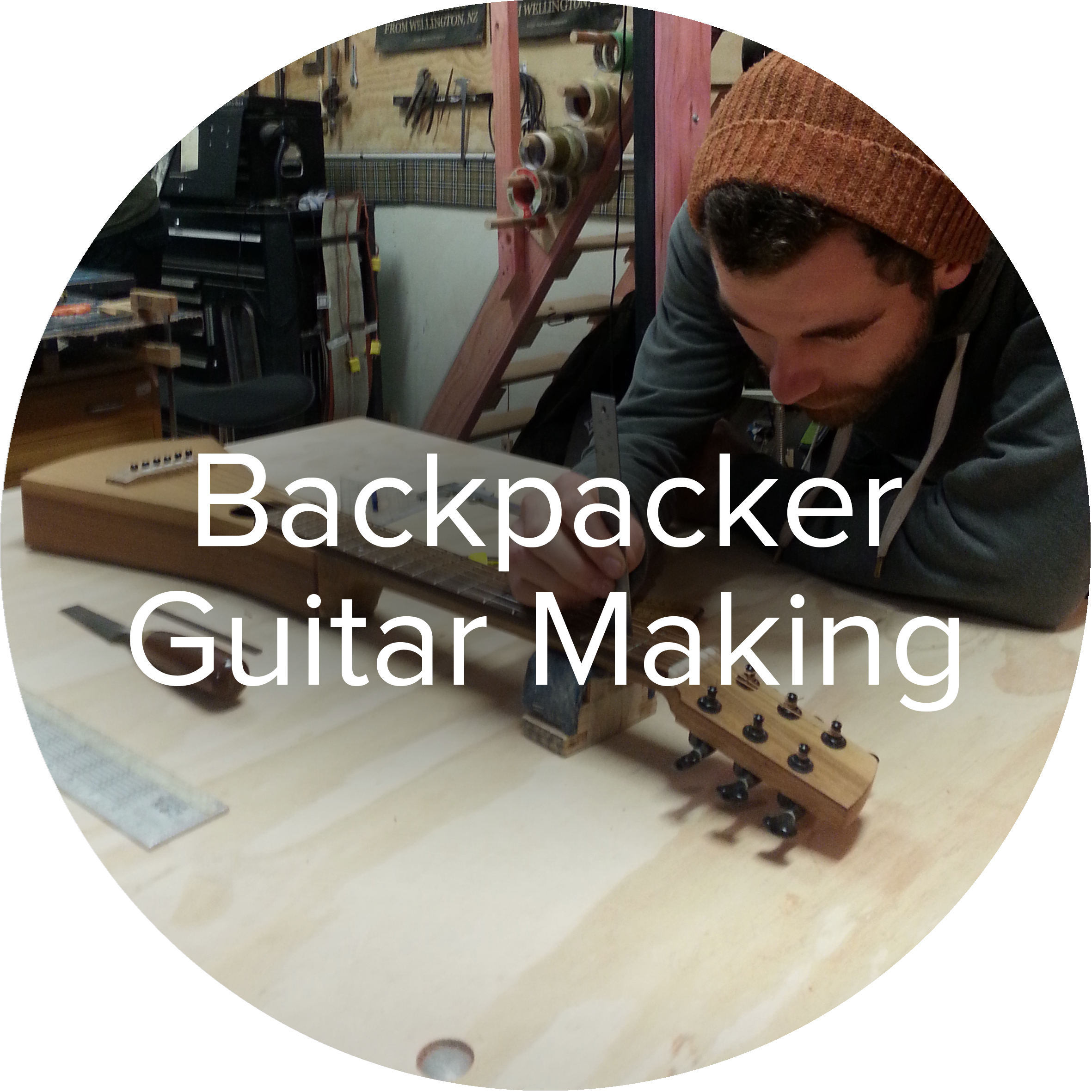 Goldbeard Guitars Backpacker style travel guitar