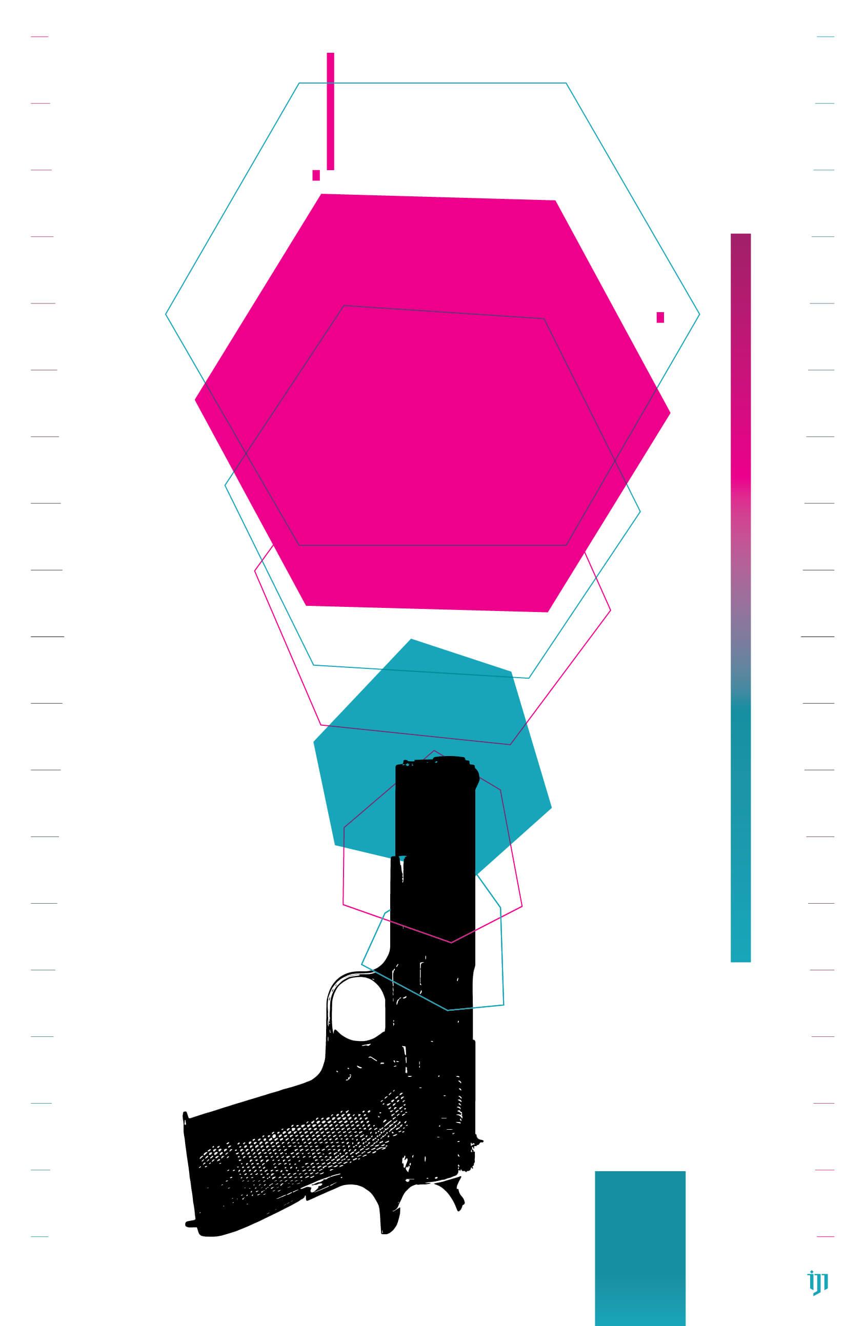 Gun graphic design. cover art